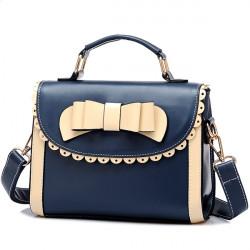 Kvinder Cute Bow PU Læder Messenger Bag Crossbody Taske