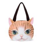 Frauen nette Katzen Gesichts Handtaschen Einkaufen Beutel Cat Pattern Umhängetasche Damentaschen für Frauen