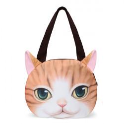 Frauen nette Katzen Gesichts Handtaschen Einkaufen Beutel Cat Pattern Umhängetasche