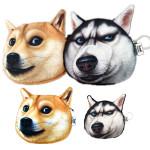Frauen nette Doge Gesicht Husky Wallet Reißverschluss Geldbörse Verfassungs Beutel Damentaschen für Frauen