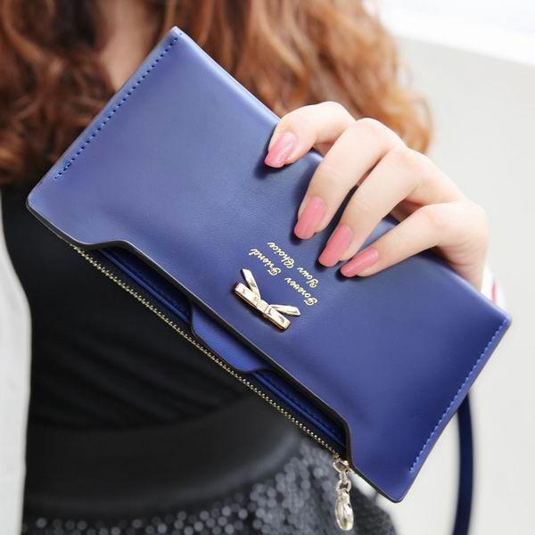 Frauen nette Geldbörse Bowknot Geldbeutel lange Muster Mappen Kartenhalter Damentaschen für Frauen