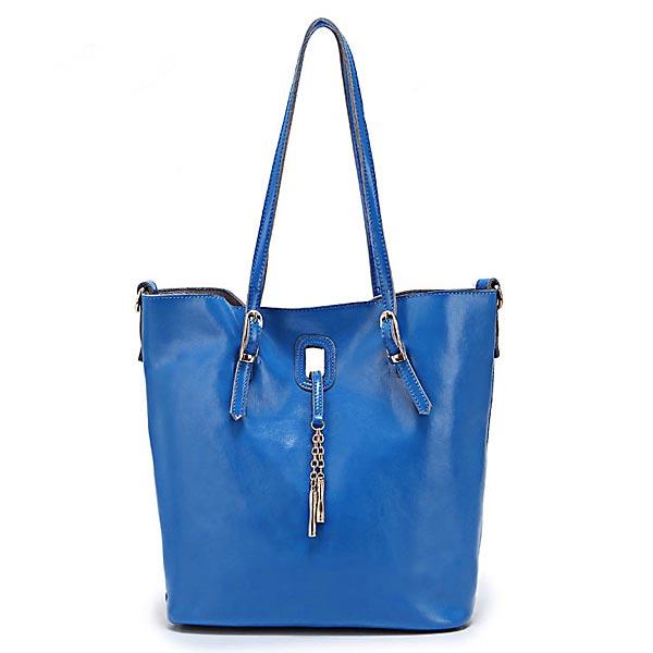 Frauen echtes Leder Handtasche Einfache Schultertasche Damentaschen für Frauen