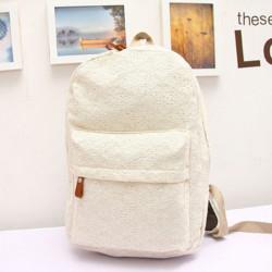Women Girls Casual Lovely Lace Shoulder Bag Canvas Travel Backpack
