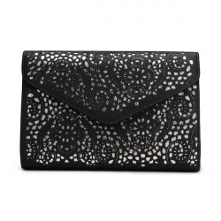 Women Hollow Out Envelope Clutch Bag