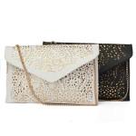 Frauen höhlen Schulter Retro Weiß Kuriertaschen PU Leder Kupplungs Handtaschen Damentaschen für Frauen