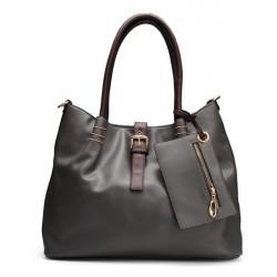 Frauen Lederimitat Big Handtasche