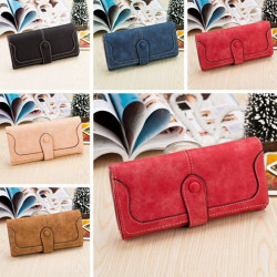 Women Ladies Retro Long Matte Wallets Purse Clutch Bags