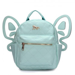 Women Leather Butterfly Backpack Shoulder Bag