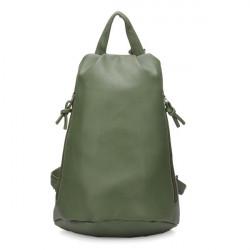 Women Leather Candy Color Backpack Shoulder Bag
