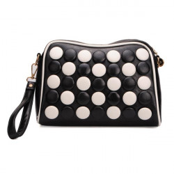 Women Leather Chess Small Crossbody Shoulder Bag