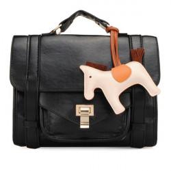 Frauen Handtaschen Cartoon Pferd Nachricht Schultertaschen Umhängetaschen