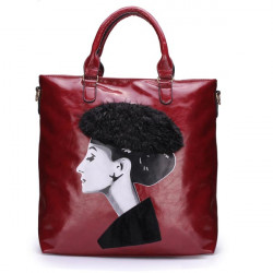 Frauen überziehen Königin Printing große Handtasche