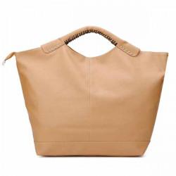 Frauen Leder Niet Big Handtasche Schultertasche