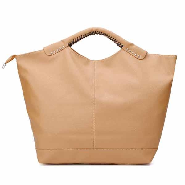 Frauen Leder Niet Big Handtasche Schultertasche Damentaschen für Frauen