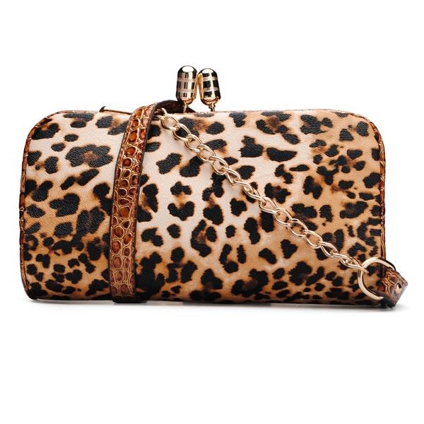 Kvinder Leopard Print Clutch Tasker Dametasker