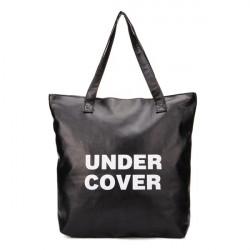 Women Letters Black Handbag Tote