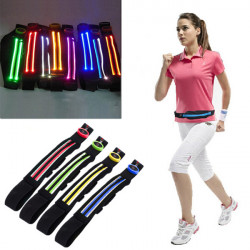 Women Men Waist Packs Belt Portable LED Large Capacity Sport Waist Bag