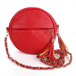 Women Messenger Bag Vintage Shoulder Bags Mini Tassel Chain Bags
