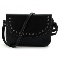 Women Oil Leather Retro Simple Small Square Shoulder Rivet Diagonal Bags