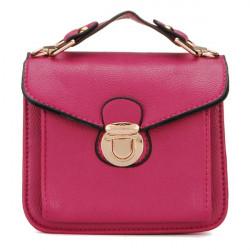 Frauen PU Leder Handtaschen Retro Chain Schultertaschen Umhängetaschen