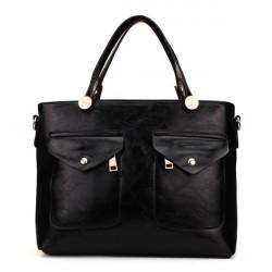Women PU Leather Shoulder Bag Handbag