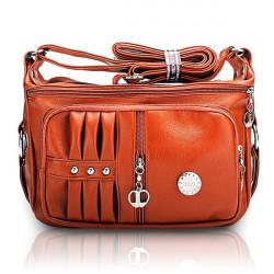 Frauen PU Leder Handtasche Kissen Freizeit Schulter Umhängetaschen