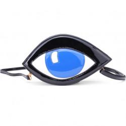 Women Personality PU Leather Handbag Eye Messenger Clutch Bag Purse