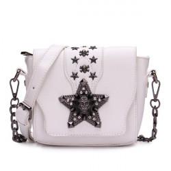 Women Punk Skull Star Crossbody Shoulder Bag