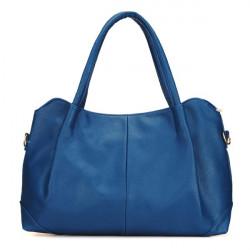 Women Pure Color PU Handbag Shoulder Bag