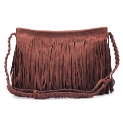 Women Pure Color Tassel Shoulder Bag Crossbody Bags