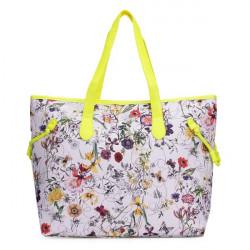 Women Retro Colorful Flowers Printing Handbag Shoulder Bag