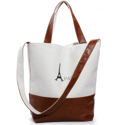 Women Retro PARIS Eiffer Tower Canvas Handbag