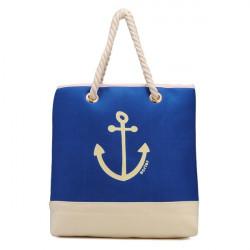 Women Sea Anchor Print Blue Handbags