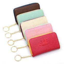 Women Short Zipper Cards Holder Coin Wallet