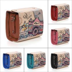 Women Shoulder Bags Retro Graffiti Camera Handbags Messenger Crossbody Bags
