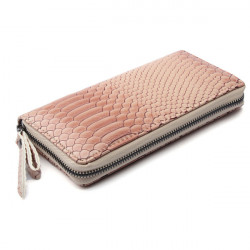 Frauen Schlangenhaut PU Leder echtes Kuh Lange Brieftasche Reißverschluss Handtasche