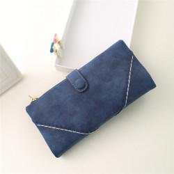 Frauen Synthetische PU Leder Handtasche Reißverschluss Geldbörse mit Knopf