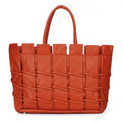 Women Woven Pu Leather Handbag Shoulder bag