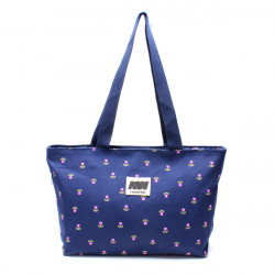 Women's Canvas Handbag Floral Print Muti-Pockets Big Shopping Bags