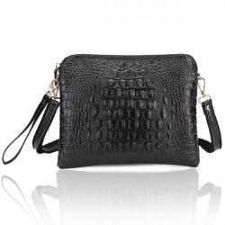 Frauen Krokodil Muster Handtaschen PU Leder Schulter Kurier Handtaschen