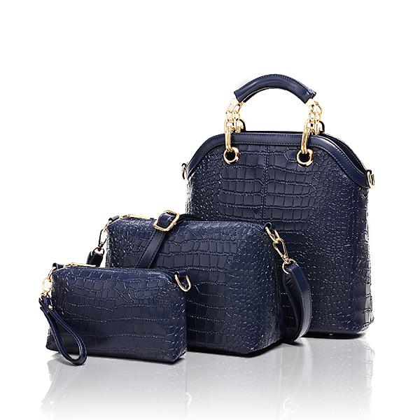 Women's Handbag Crocodile Shoulder Cross-body Messenger Portable Combined Bagss Women's Bags