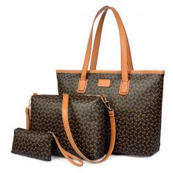 Women's Handbag Shoulder Bag Set For Ladies Purse Wallet Three Piece