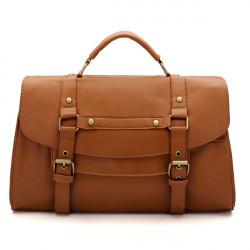 Women's PU Leather Handbag Messenger Satchel Shoulder Bag Retro Briefcase