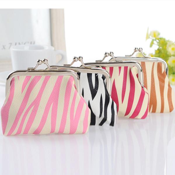 Zebra Streifen Mädchen Haspe kleinen Geldbeutel Münzen Beutel Damentaschen für Frauen