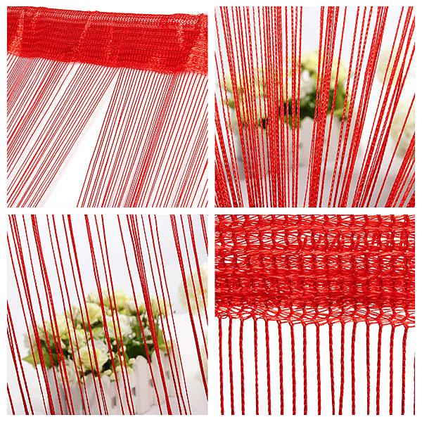 100cm * 200cm String Curtain Fringe Panel Room Divider Bryllup Drapery Dametøj