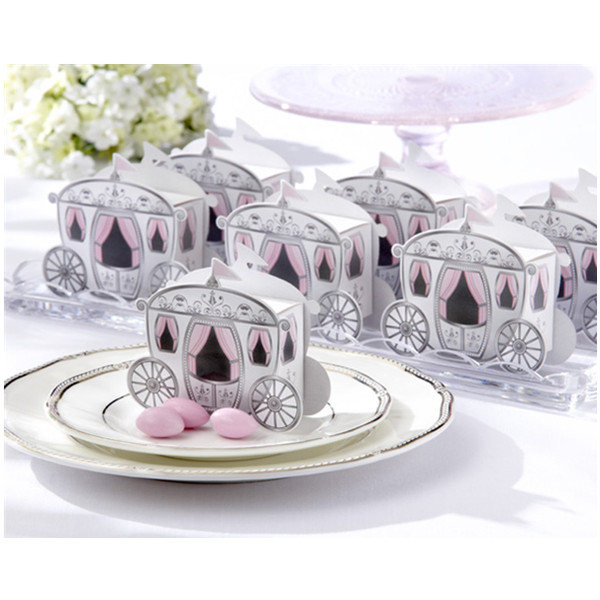 10stk Cute Enchanted Carriage Favor Boxes Bryllupsfest Candy Box Dametøj