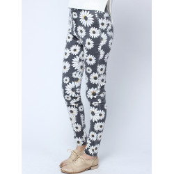 2014 Autumn Floral Skinny Long Jeans Trousers