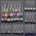 20PCS Flowers Crystal Alloy Hair Pins Wedding Hair Accessories Women's Clothing