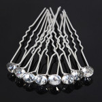 20pcs Bridal Crystal Rhinestone Diamante Clips Hairpin Accessories Women's Clothing