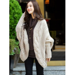 6 Colours V-Neck Batwing Sleeve Knitted Cardigans